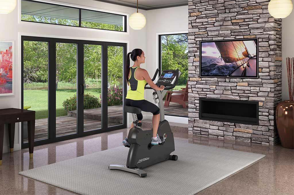 life fitness c1 upright lifecycle exercise bike go console primafit. Black Bedroom Furniture Sets. Home Design Ideas