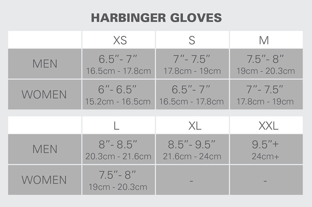 Harbinger-Gloves-Size