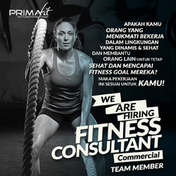 we are hiring fitness consultant commercial team member