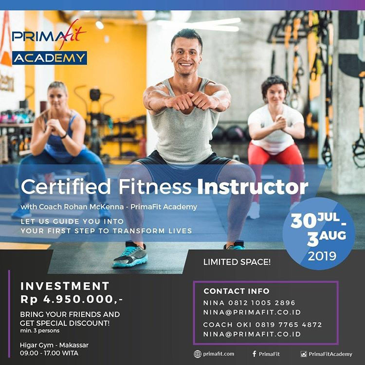 certified fitness instructor